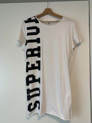 Be only Vestido de manga corta blanco-negro
