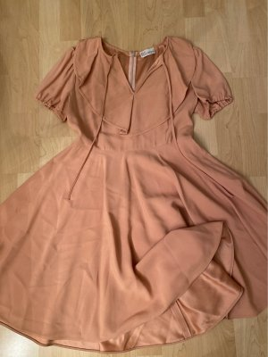 RED Valentino Flounce Dress dusky pink