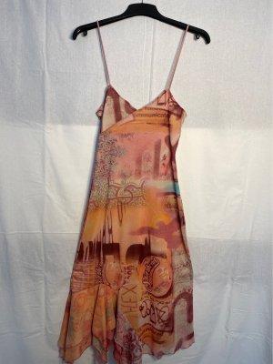 Style Letnia sukienka Wielokolorowy