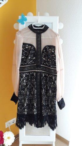 100% Fashion Evening Dress black-beige