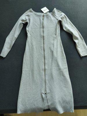 Swetrowa sukienka srebrny