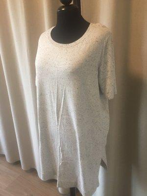 Vestito di lana grigio chiaro-bianco