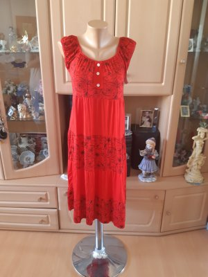 Made in Italy Beach Dress black-red