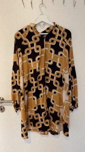 H&M Abito blusa bronzo-nero