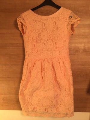 H&M Sukienka z rękawem balonowym brzoskwiniowy