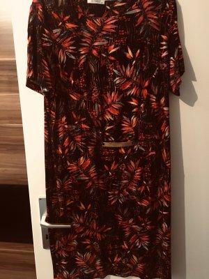 0039 Italy Midi-jurk bordeaux-roodbruin