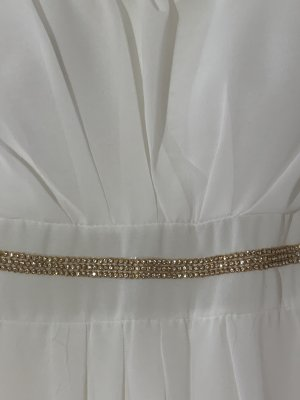 High Low Dress white-gold-colored