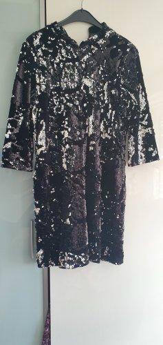Zara Trafaluc Sequin Dress black-silver-colored