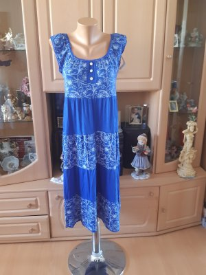 Made in Italy Beach Dress white-steel blue
