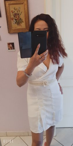 Fashion Style Abito felpa bianco