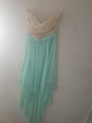 Amisu Sukienka plażowa jasnobeżowy-turkusowy
