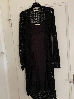 Cream Stretch Dress black mixture fibre