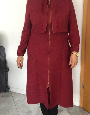 Coat Dress bordeaux cotton