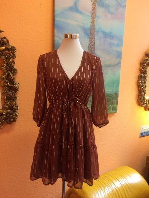 Babydoll Dress cognac-coloured-gold-colored
