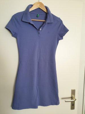 Benetton Vestido tipo polo púrpura