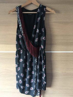 Reserved Vestido con flecos multicolor