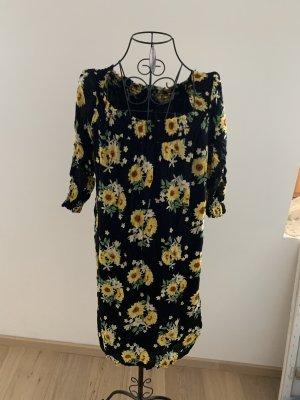 Takko Vestido elástico negro-amarillo