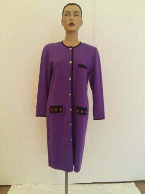 Sukienka płaszczowa fiolet Tkanina z mieszanych włókien