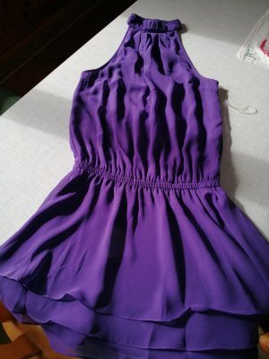 Halter Dress dark violet