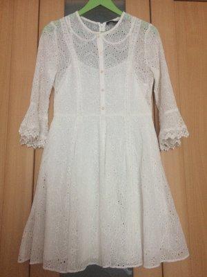 French Connection Koronkowa sukienka biały