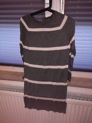 Mango Stretch jurk wit-grijs