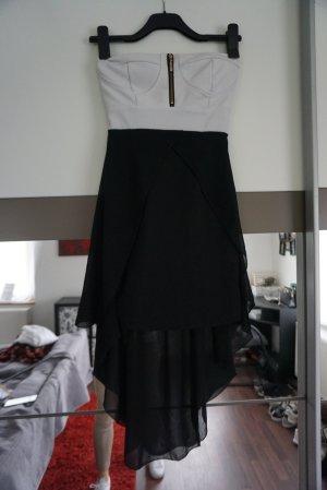 Vestito vokuhila bianco-nero