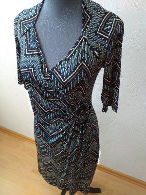 Promod Vestido cruzado multicolor