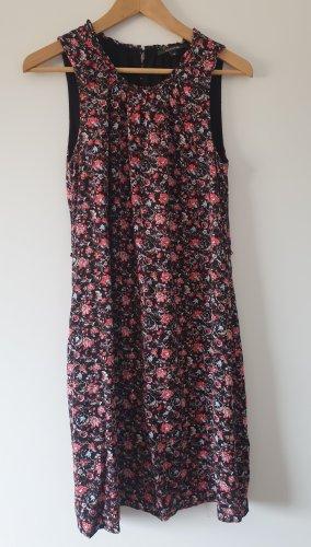 Comma Sukienka z krótkim rękawem czarny-czerwony