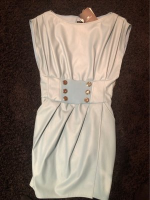 Elisabetta Franchi Leren jurk lichtblauw