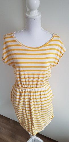 H&M Robe Sweat blanc-jaune