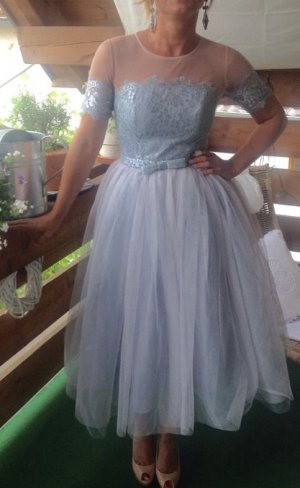Ball Dress silver-colored-azure