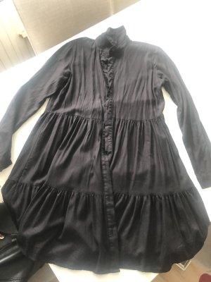 Stradivarius Vestido camisero negro