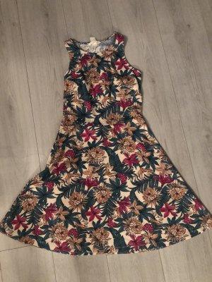 H&M Sukienka o kroju litery A Wielokolorowy
