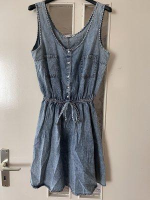 Jeansowa sukienka błękitny-jasnoniebieski