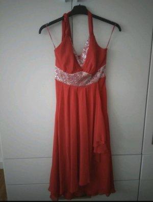 butik dayi Robe de bal rouge brique-gris clair polyester