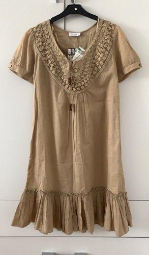 Jessica Sukienka dresowa beżowy Bawełna