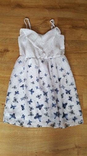 Gina Summer Dress white-blue