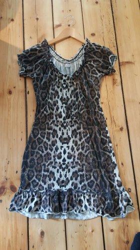 Kleid, 36, Leoprint, kurz, romantisch, Empire, Fresh made