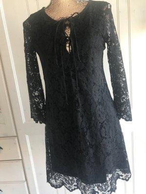 Zara Trafaluc Lace Dress black polyester