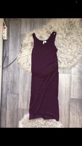 H&M Sukienka midi brązowo-fioletowy-czerwona jeżyna