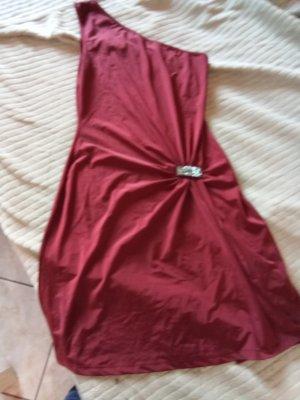 100% Fashion Vestido de cóctel rojo oscuro