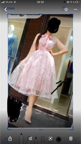 Vestido estilo flounce malva-rosa claro