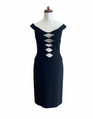 Hervé léger Evening Dress black wool