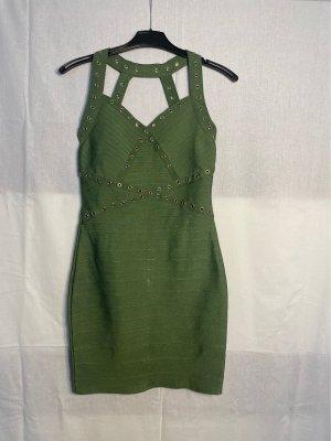 Miss Moda Bandeau Dress olive green