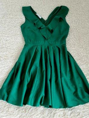 """Kleid 40 gebraucht midi. Smaragdkleid """"Promod"""" mit offenem Ausschnitt. Größe 40."""