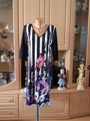 Alba Moda Abito jersey nero-blu-viola