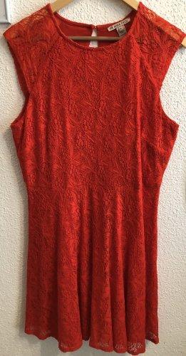 Anna Field Sukienka midi czerwony