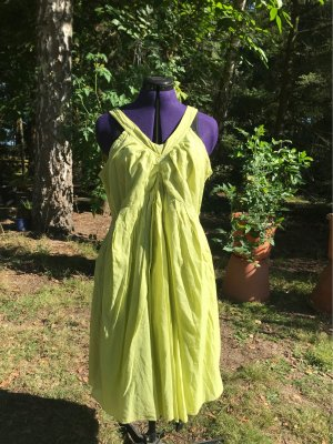 Le Streghe the witches Off-The-Shoulder Dress meadow green cotton