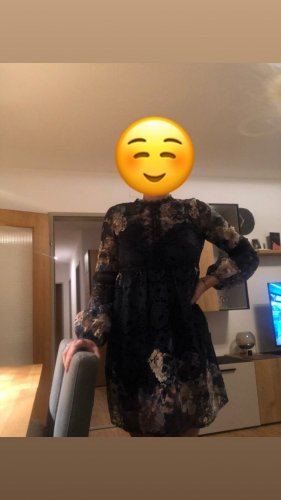 Asos Sukienka z rękawem balonowym ciemnoniebieski