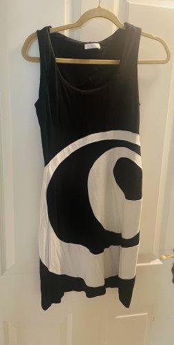 Promod Mini vestido negro-blanco